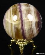 "2.1"" Fluorite Sphere, Crystal Ball"