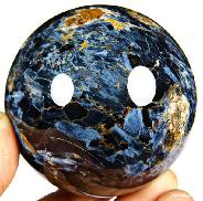 "Awesome Flash Gemstone 3.0"" Pietersite Carved Crystal Ball"