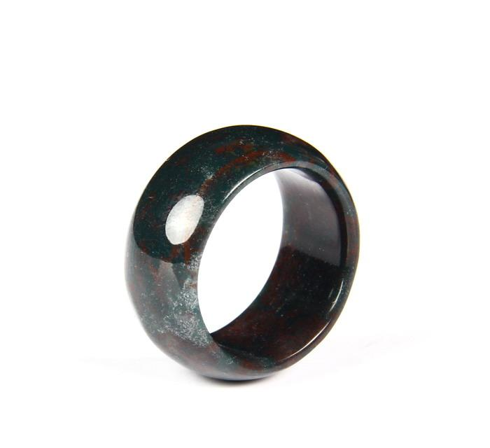 Bloodstone Crystal Ring