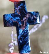 Pietersite Cross Pendant,Chatoyant,Gemstone