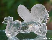 STUNNING CLEAR Quartz Rock Crystal Carved Angel