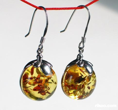 Amber Earrings,
