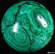 "Amazing Gemstone Huge 5.6"" Malachite Sphere, Crystal Ball, Gemstone"