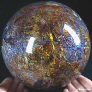 "TITAN 6.7"" Pietersite Sphere, Crystal Ball, Gemstone"