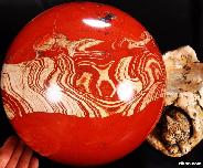 "TITAN NICE 8.7"" Red Jasper Sphere, Crystal Ball"