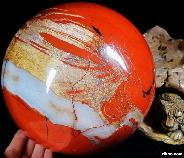 "TITAN 6.9"" Red Jasper Sphere, Crystal Ball"