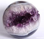 "Best Quality, 3.4"" Amethyst Geode Sphere, Crystal Ball"