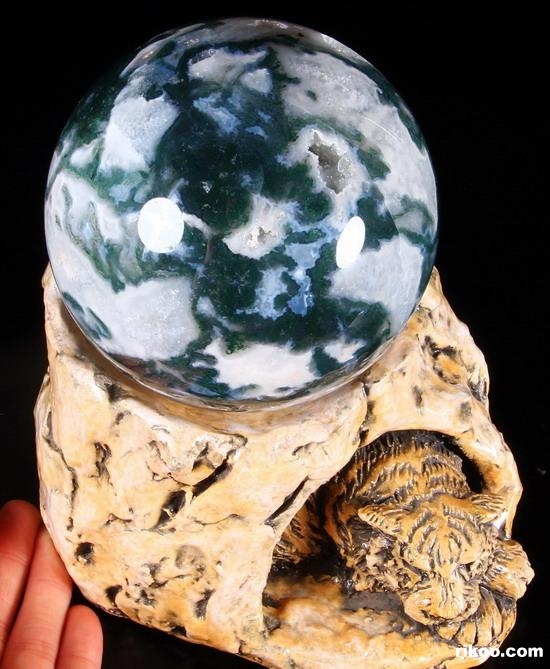 Green Moss Agate Crystal Ball