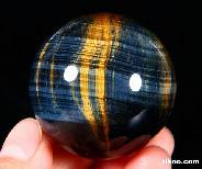 "Top Quality 1.6"" Blue & Gold Tiger Eye/tigereye Sphere, Crystal Ball"