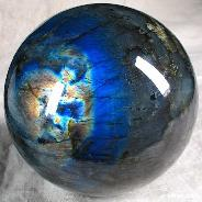 "AMAZING, Giant 5.1"" Labradorite Sphere, Crystal Ball"