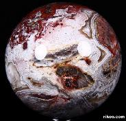 "2.6"" Red Crazy Lace Agate Sphere, Crystal Ball"