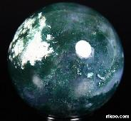 "1.9"" Green Moss Agate Sphere, Crystal Ball"
