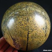 "4.1"" Chinese Painting Stone Sphere, Crystal Ball"