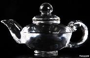 Quartz Rock Crystal Carved Crystal Teapot