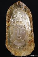 Quartz Rock Crystal Carved Kwan-yin