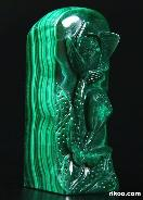 Malachite Carved Crystal Flower Seal