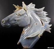 GEODE Agate Carved Crystal Horse Head