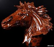 "8.7"" Mahogany Obsidian Carved Crystal Horse Head"