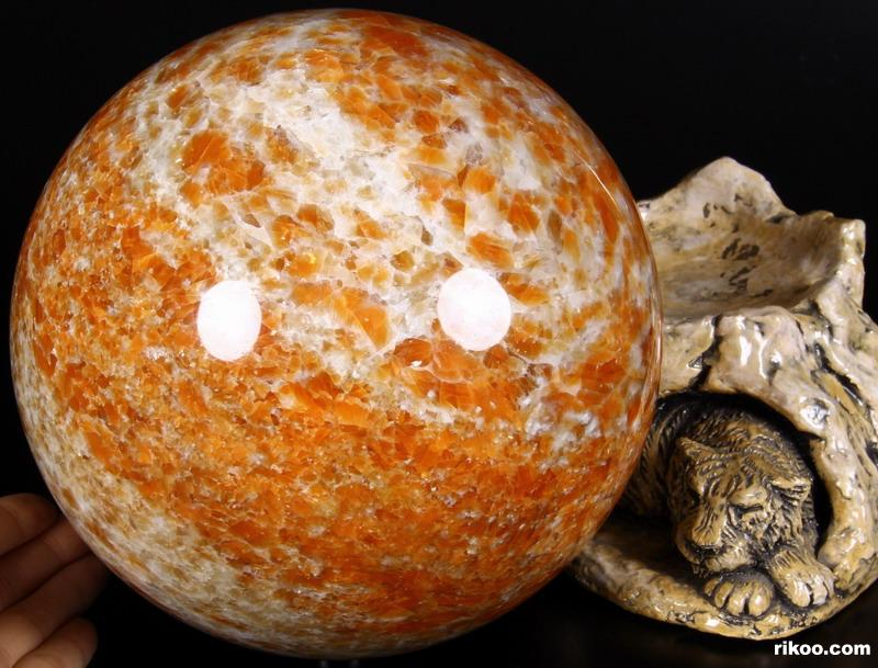 Orange Calcite Crystal Ball