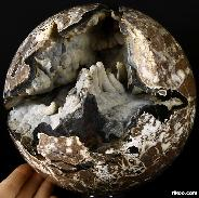 "AMAZING UNIQUE GEODE TITAN 6.9"" Dinosaur Egg Agate Sphere, Crystal Ball"