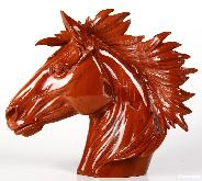 "7.7"" Red Jasper Carved Crystal Horse Head"