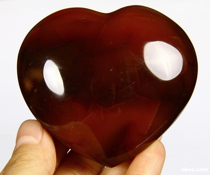 Red Agate Crystal Heart