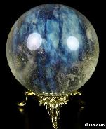 "2.0"" Smelted Quartz Sphere, Crystal Ball"