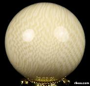 "2.0"" Elephant Bone Sphere, Crystal Ball"