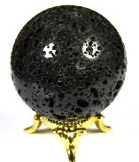 "2.0"" Hot Lava Stone Sphere, Crystal Ball"