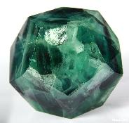 "2.9"" Fluorite Carved Crystal Dodecahedron"