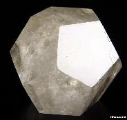"3.4"" Smoky Quartz Rock Crystal Carved Crystal Dodecahedron"