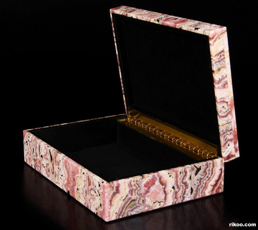 Rhodochrosite Crystal Jewelry Box