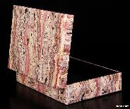 "Gemstone Huge 6.2"" Rhodochrosite Carved Crystal Jewelry Box"