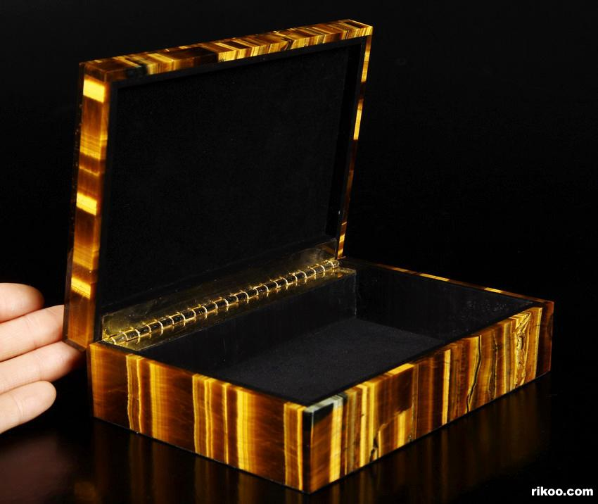 Tiger Iron Eye Crystal Jewelry Box