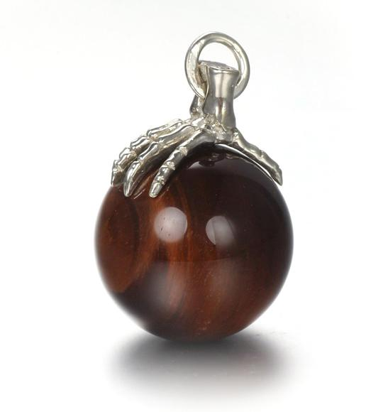 Crystal Red Tiger Eye Sphere Pendant