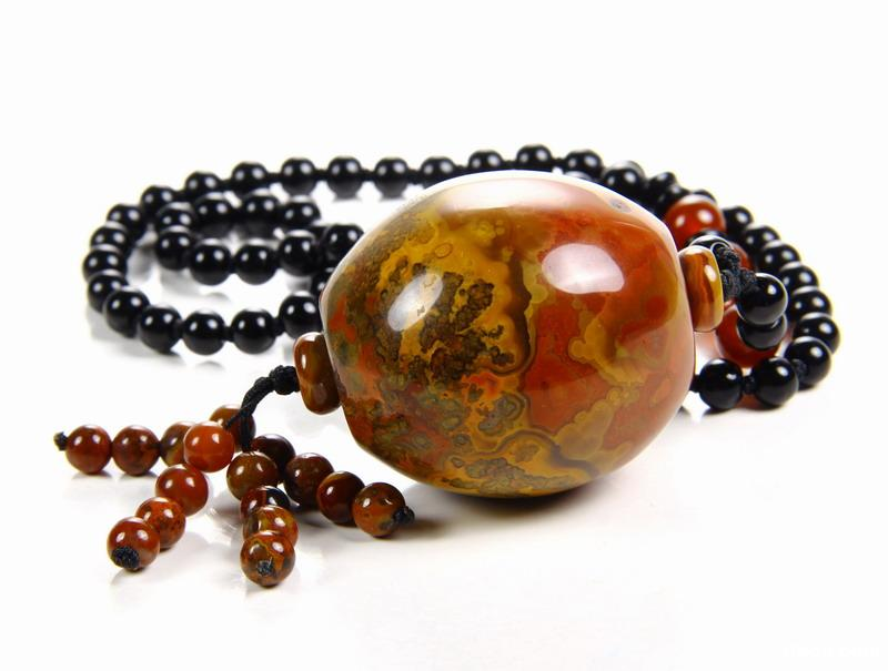 Empire Red Agate Crystal Pendant