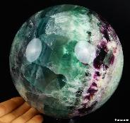 "Huge 5.5"" Fluorite Sphere Crystal Ball"