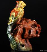 "Amazing 7.4"" Bloodstone Crystal Bird Sculpture"