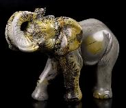 "6.2"" Chinese Painting Stone Crystal Elephant"