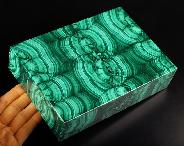"Gemstone 7.1"" Malachite Crystal Jewelry Box"