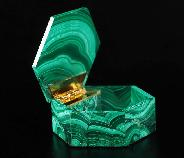 "Gemstone 2.7"" Malachite Crystal Jewelry Box, Crystal Healing"