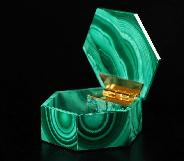 "Gemstone 2.7"" Malachite Crystal Jewelry Box"