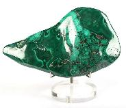 "6.4"" Malachite Ore Mark, Crystal Healing"