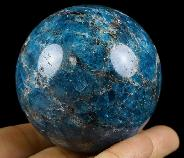 "2.2"" Blue Apatite Crystal Ball, Crystal Healing"