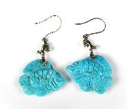 "2.2"" Turquoise Carved Crystal Necklaces & Pendants"