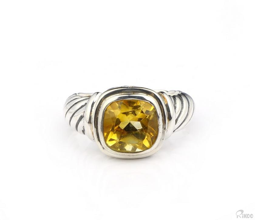 Citrine Crystal Rings