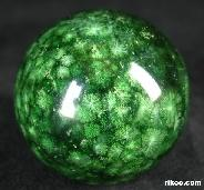 "2.0"" Green Coral Stone Sphere, Crystal Ball"