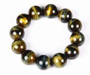 "0.7"" Gold Tiger Eye Crystal Bracelet"