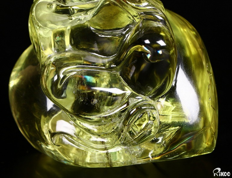 Citrine Crystal Eighteen Arhats Sculpture