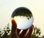 "Transparent 3.3"" Quartz Rock Crystal Sphere, Crystal Ball"